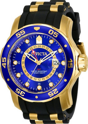 75c375dab7d Invicta Pro Dirver 6993 Men s Round Analog Date Gold Tone Blue Watch